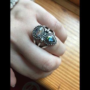 Albalone boho ring
